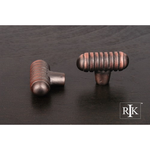RK International Distressed Small Ribbed Knob CK714DC
