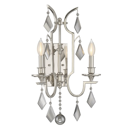 Savoy House Savoy House Lighting Ballard Polished Nickel Sconce 9-879-2-109