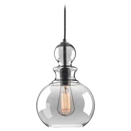 Progress Lighting Progress Lighting Staunton Graphite Mini-Pendant Light with Bowl / Dome Shade P5334-143