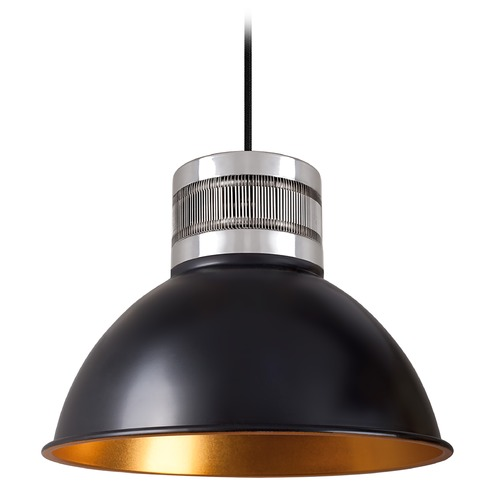Kuzco Lighting Industrial Black and Gold LED Pendant 3000K 330LM PD2612-BK