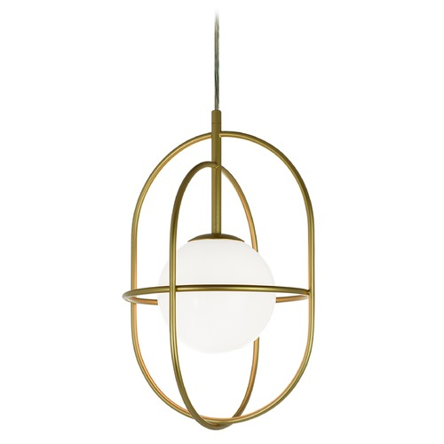 Matteo Lighting Matteo Lighting Eclipse Gold Pendant Light with Globe Shade C76901GL