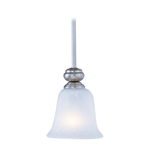 Maxim Lighting Mini-Pendant Light with White Glass 90170ICSS