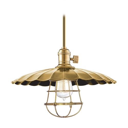 Hudson Valley Lighting Pendant Light in Aged Brass Finish 9001-AGB-ML3-WG