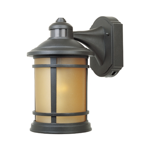 Designers Fountain Lighting Outdoor Wall Light with Copper Glass in Mediterranean Patina Finish 2371MD-ORB