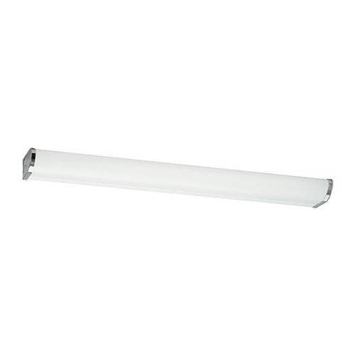 Sea Gull Lighting Modern Bathroom Light with White in Chrome Finish 49013LE-05
