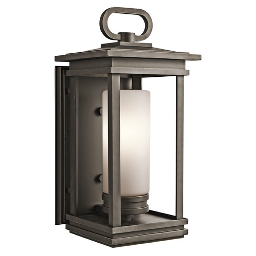 Kichler Lighting Kichler Outdoor Wall Light with White Glass in Olde Bronze Finish 49476RZ