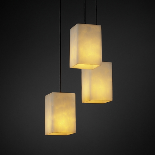Justice Design Group Justice Design Group Clouds Collection Multi-Light Pendant CLD-8864-15-DBRZ
