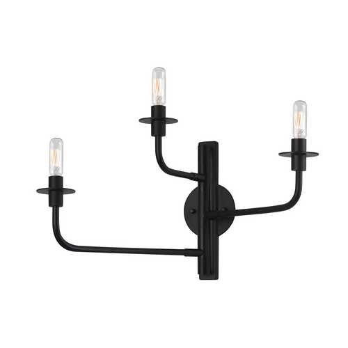 Sonneman Lighting Modern Sconce Wall Light in Satin Black Finish 4540.25