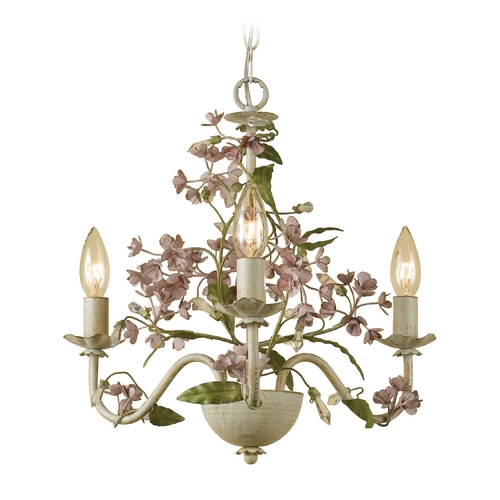 AF Lighting Mini-Chandelier in Cream Finish 7044-3H