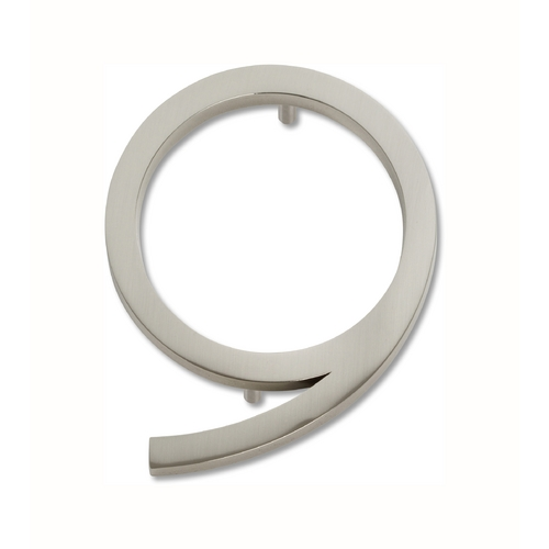 Atlas Homewares Brushed Nickel House Number AVN9-BRN