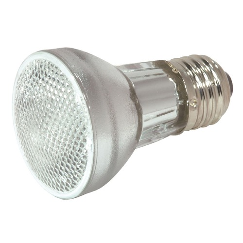 Satco Lighting Halogen PAR16 Light Bulb Medium Base Narrow Flood 30 Degree Beam Spread 3000K 120V Dimmable S2201