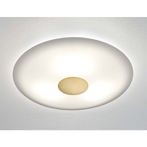 Holtkoetter Lighting Holtkoetter Modern Semi-Flushmount Light with White Glass in Antique Brass Finish 3503SOL AB
