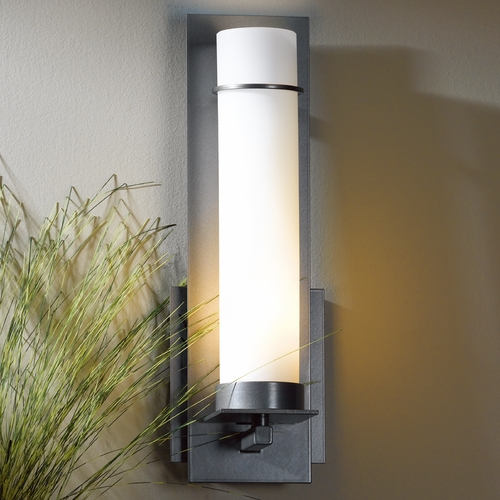 Hubbardton Forge Lighting Hubbardton Forge Lighting New Town Burnished Steel Sconce 204260-SKT-08-GG0186