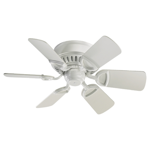 Quorum Lighting Quorum Lighting Medallion Studio White Ceiling Fan Without Light 51306-8