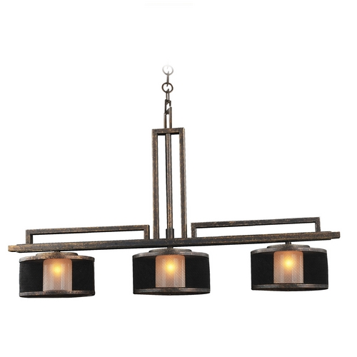 Kalco Lighting Kalco Lighting Stanley Volcano Bronze Island Light with Cylindrical Shade 6716VB