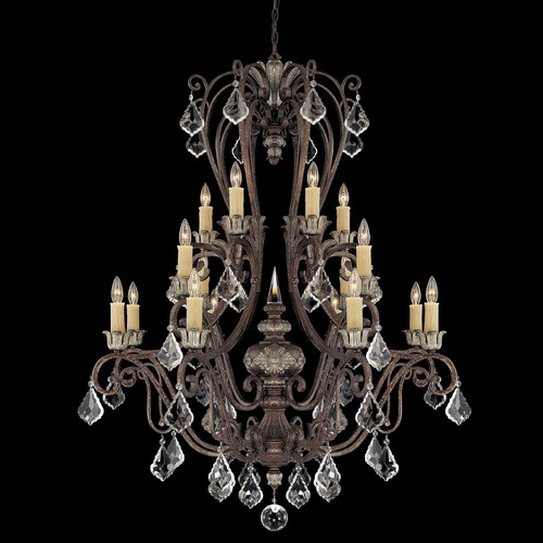 Savoy House Savoy House New Tortoise Shell W/silver Crystal Chandelier 1P-1553-16-8