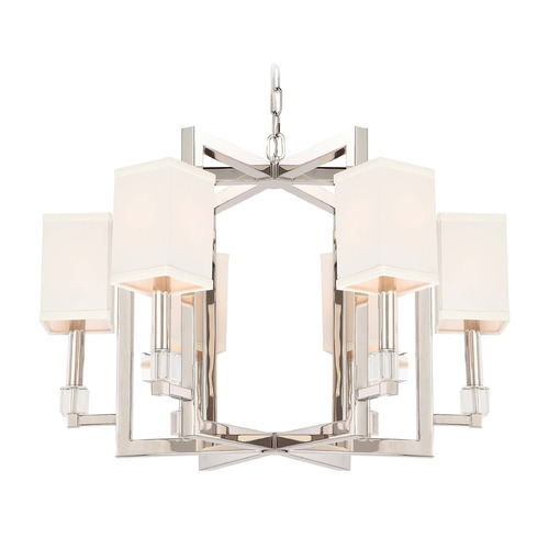 Crystorama Lighting Crystorama Lighting Dixon Polished Nickel Chandelier 8886-PN
