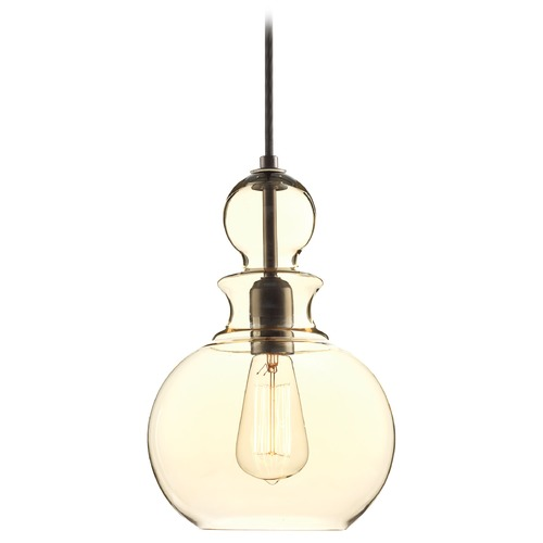Progress Lighting Farmhouse Industrial Mini-Pendant Light Bronze Staunton by Progress Lighting P5334-20