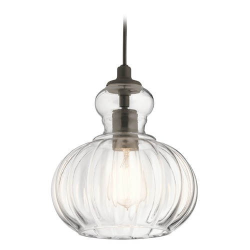 Kichler Lighting Transitional Pendant Light Olde Bronze Riviera by Kichler Lighting 43956OZ