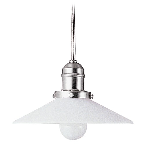Hudson Valley Lighting Mini-Pendant Light with White Glass 3101-SN-008