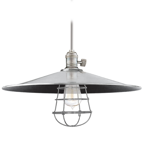 Hudson Valley Lighting Pendant Light in Historic Nickel Finish 9001-HN-ML1-WG