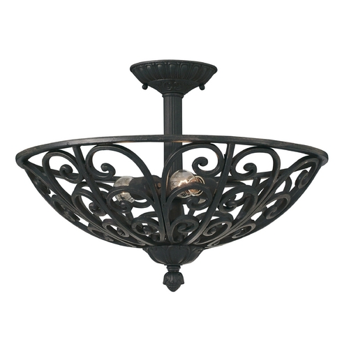 Designers Fountain Lighting Semi-Flushmount Light in Natural Iron Finish 9192-NI
