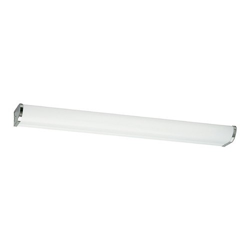 Sea Gull Lighting Modern Bathroom Light with White in Chrome Finish 49014LE-05