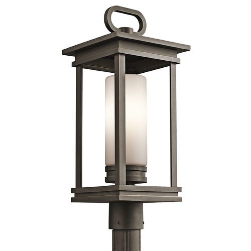 Kichler Lighting Kichler Post Light with White Glass in Olde Bronze Finish 49478RZ