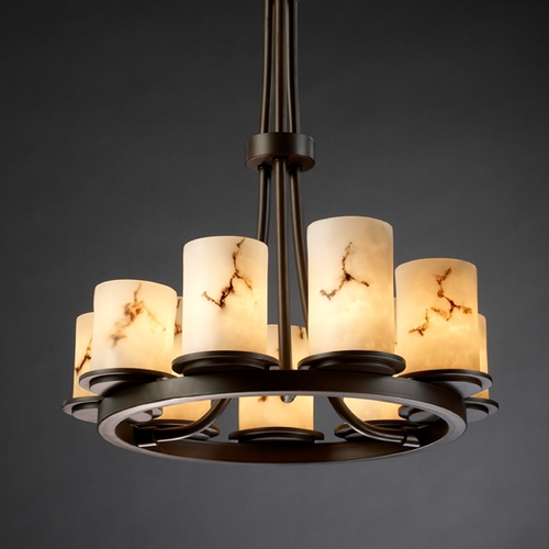 Justice Design Group Justice Design Group Lumenaria Collection Chandelier FAL-8766-10-DBRZ