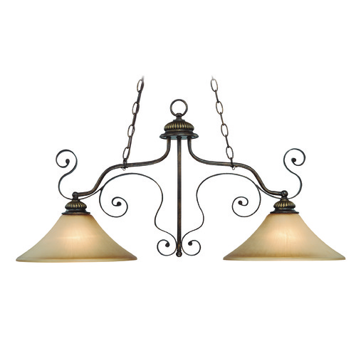 Jeremiah Lighting Jeremiah Kingsley Century Bronze Island Light with Bell Shade 26522-CB
