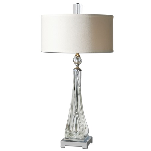 Uttermost Lighting Uttermost Grancona Twisted Glass Table Lamp 26294-1