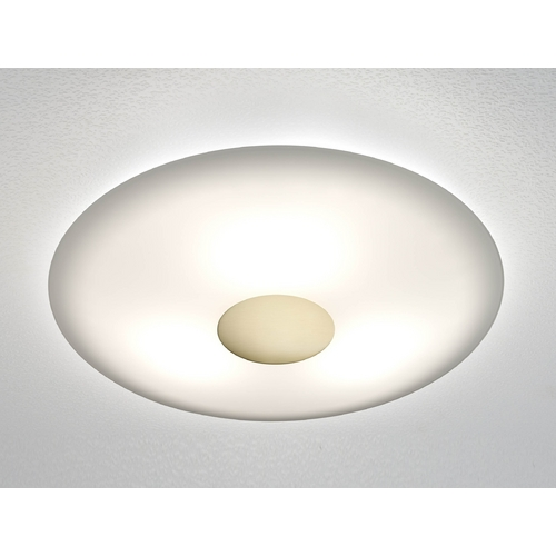 Holtkoetter Lighting Holtkoetter Modern Semi-Flushmount Light with White Glass in Brushed Brass Finish 3503SOL BB