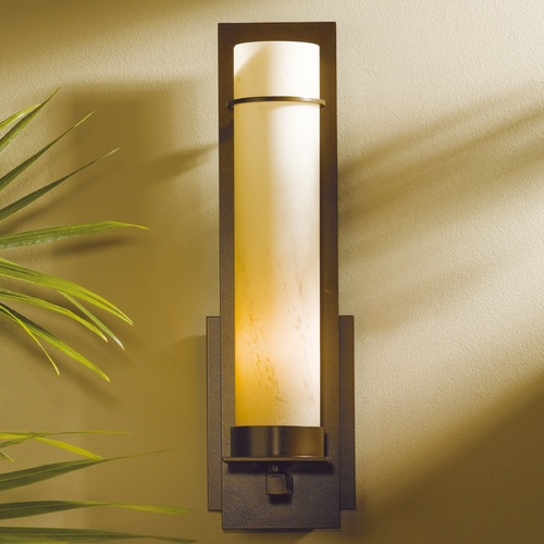 Hubbardton Forge Lighting Hubbardton Forge Lighting New Town Dark Smoke Sconce 204265-07-H214