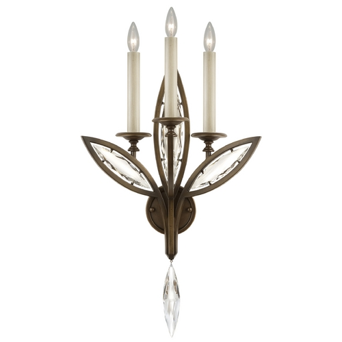 Fine Art Lamps Fine Art Lamps Marquise Antique Hand Rubbed Bronze Sconce 844650-32ST