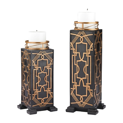 Sterling Lighting Set of 2 Gatsby Candleholders 87-005/S2