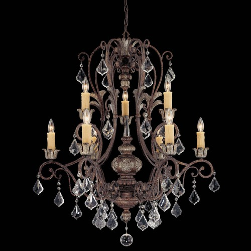 Savoy House Savoy House New Tortoise Shell W/silver Crystal Chandelier 1P-1558-9-8
