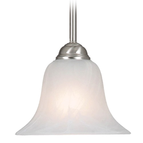 Golden Lighting Golden Lighting Pewter Mini-Pendant Light with Bell Shade 4120 PW-MBL