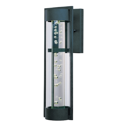 Maxim Lighting Modern LED Outdoor Wall Light with Clear Glass in Texture Ebony Finish 88354CLTE