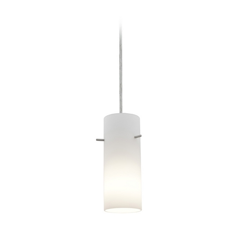 Access Lighting Modern Mini-Pendant Light with White Glass 28030-2C-BS/OPL