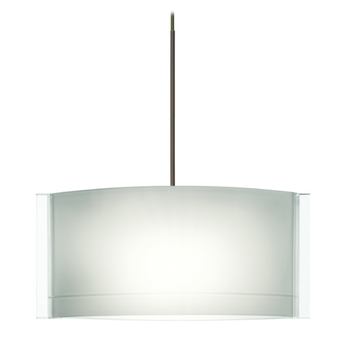 Besa Lighting Besa Lighting Jodi Bronze Mini-Pendant Light with Oblong Shade 1XT-673006-BR