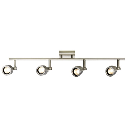 Recesso Lighting by Dolan Designs Track Light with 4 Stepped Cylinder Spot Lights - Satin Nickel - GU10 Base TR0204-SN