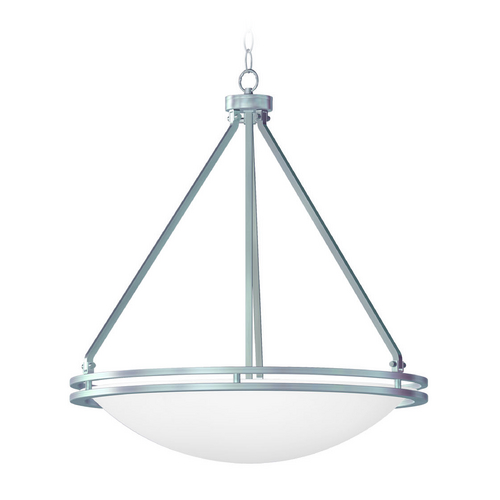 Access Lighting Access Lighting Aztec Brushed Steel Pendant Light 20463GU-BS/WHT