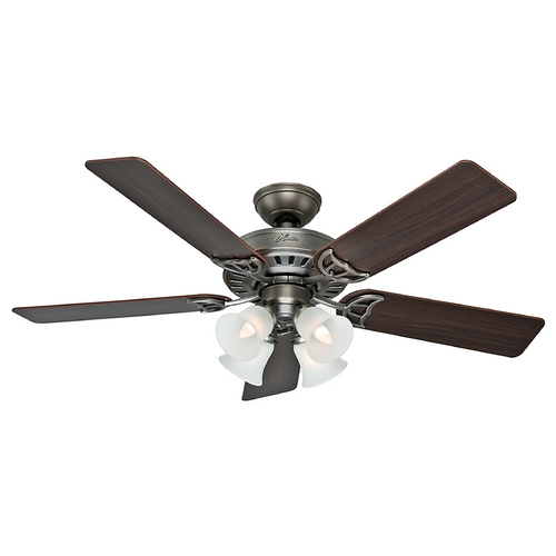Hunter Fan Company Hunter Fan Company Studio Series Antique Pewter Ceiling Fan with Light 53065