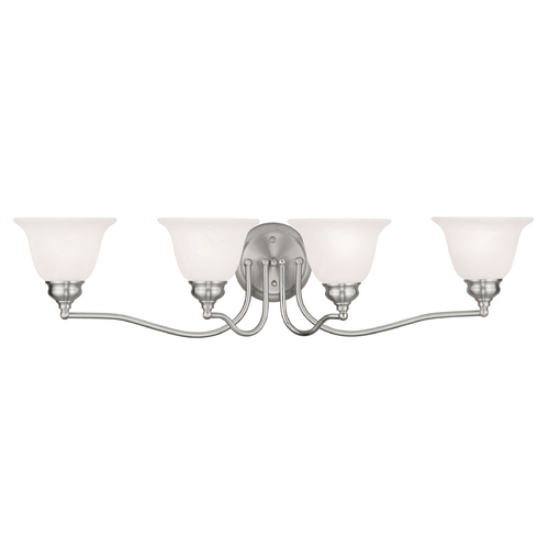 Livex Lighting Livex Lighting Essex Brushed Nickel Bathroom Light 1354-91