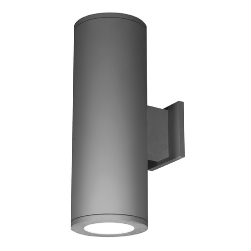 WAC Lighting 8-Inch Graphite LED Tube Architectural Up and Down Wall Light 3000K 7020LM DS-WD08-F930B-GH