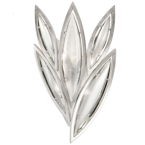 Fine Art Lamps Fine Art Lamps Marquise Platinized Silver Leaf Sconce 849050-11ST