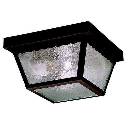 Kichler Lighting Kichler Modern Close To Ceiling Light with Clear Glass in Black Finish 345BK