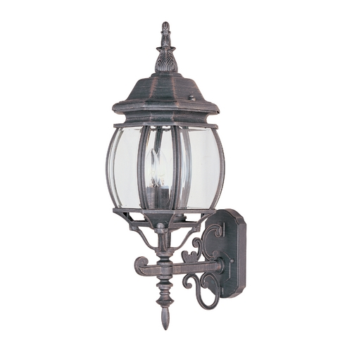 Maxim Lighting Outdoor Wall Light with Clear Glass in Rust Patina Finish 1033RP