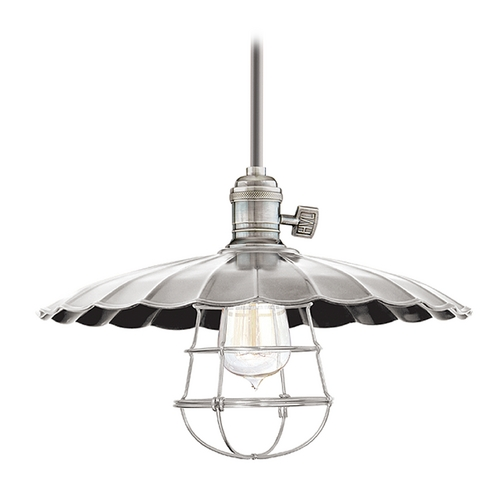 Hudson Valley Lighting Pendant Light in Historic Nickel Finish 9001-HN-ML3-WG