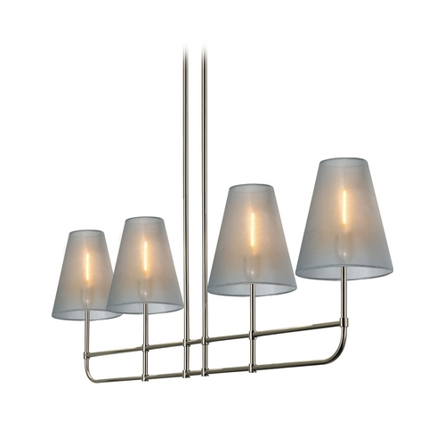 Sonneman Lighting Island Light with Silver Shades in Polished Nickel Finish 1964.35